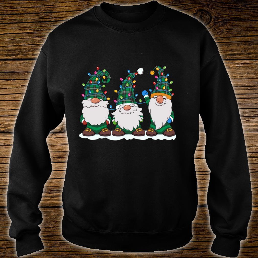 Three Gnomes Winter Gnome Christmas Tree Lights Shirt sweater