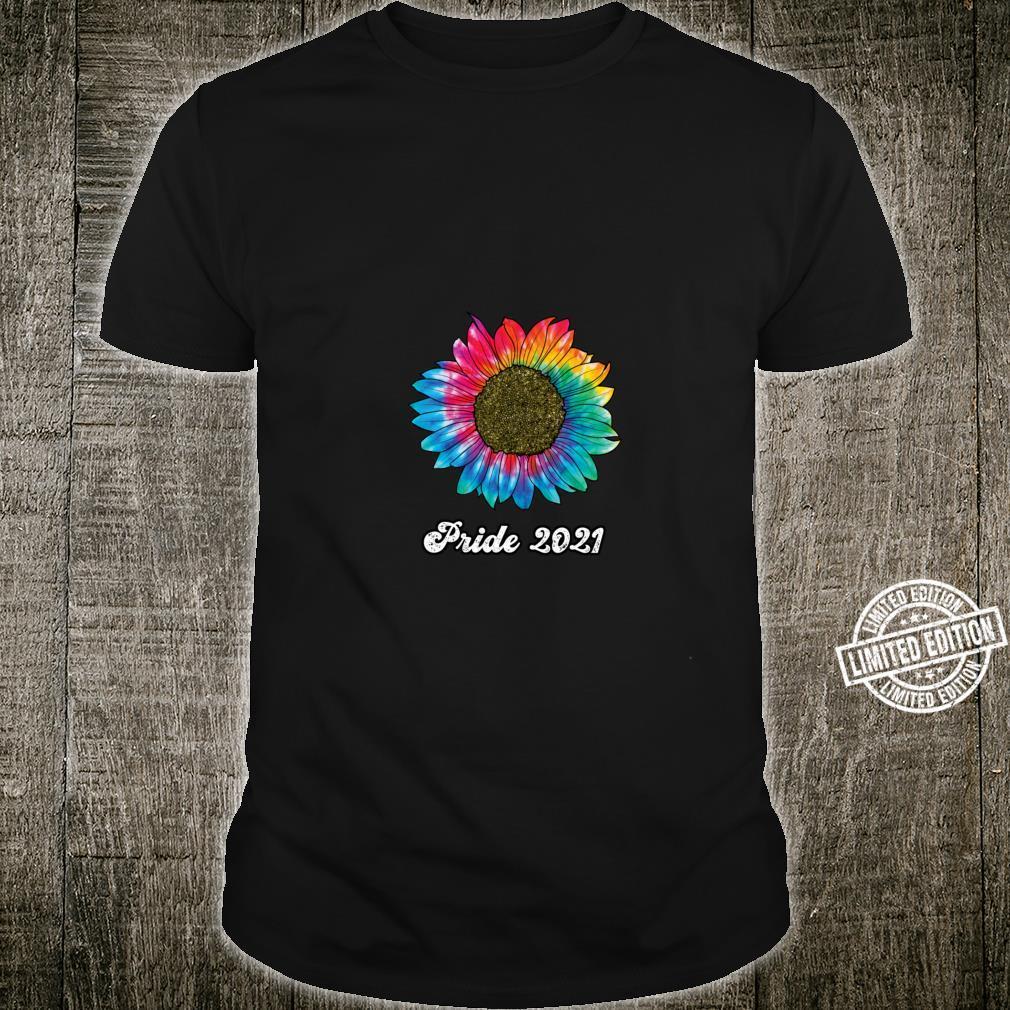 Tie Dye Retro Rainbow Sunflower LGBTQ Pride 2021 Boho Hippie Shirt