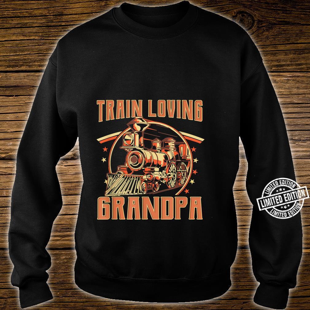 Train Loving Grandpa Vintage Train Shirt sweater