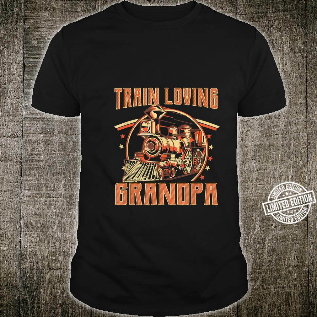 Train Loving Grandpa Vintage Train Shirt