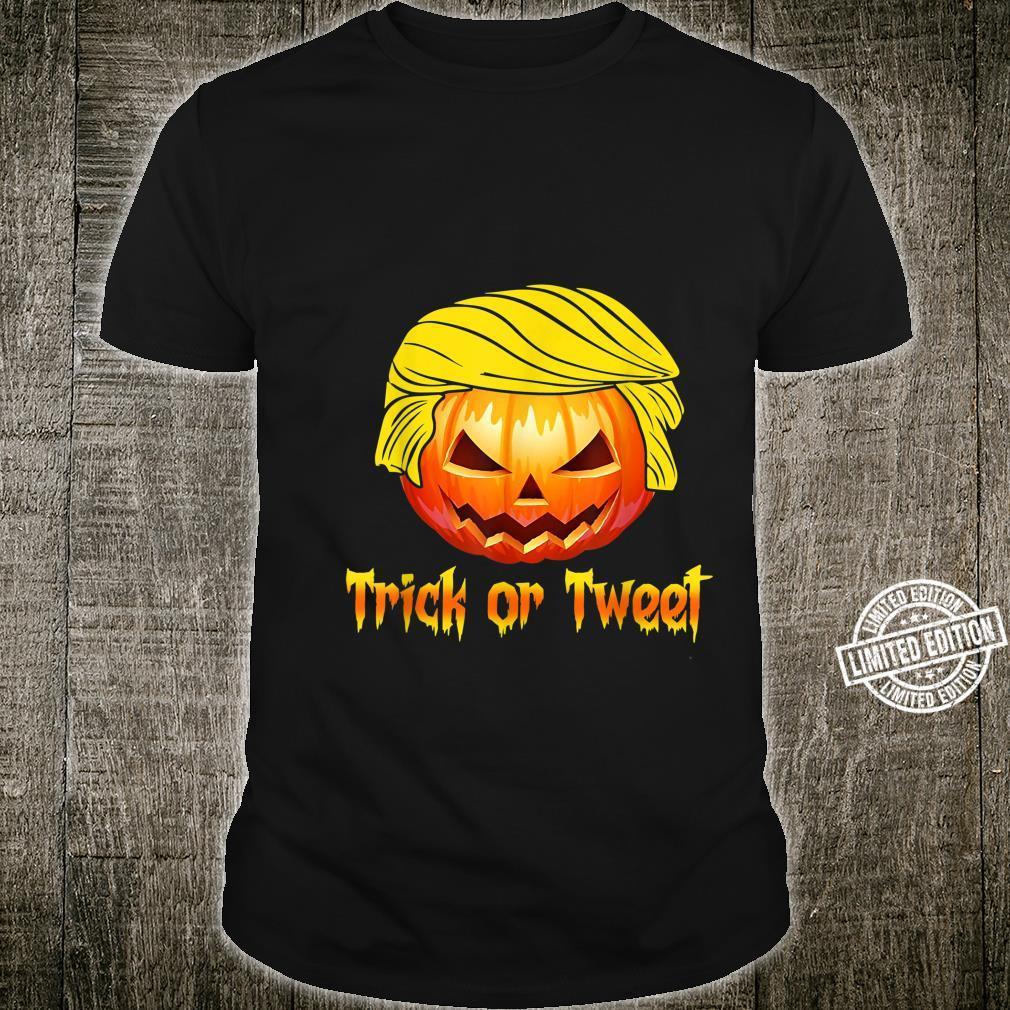 Trick Or Tweet Pumpkin Donald Trump Shirt