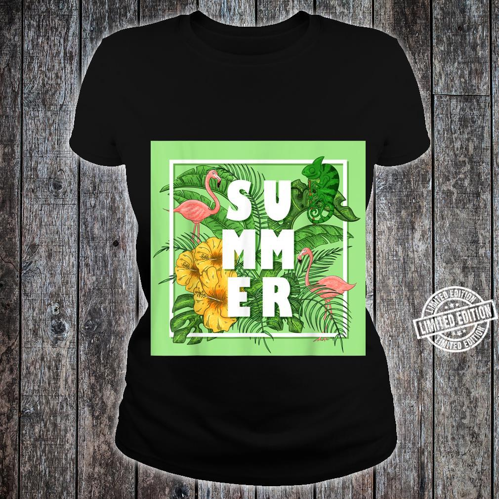 Tropical Summer Shirt ladies tee