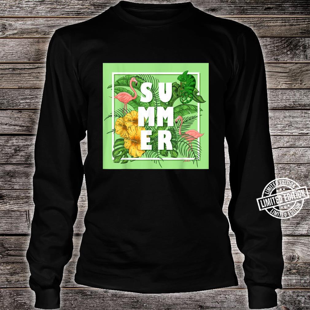 Tropical Summer Shirt long sleeved