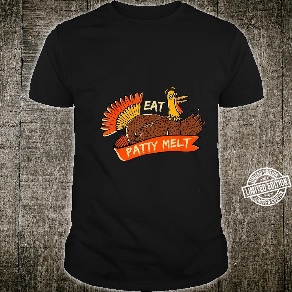 Turkey Eat Patty Melt Thanksgiving Sandwich Black Friday Shirt