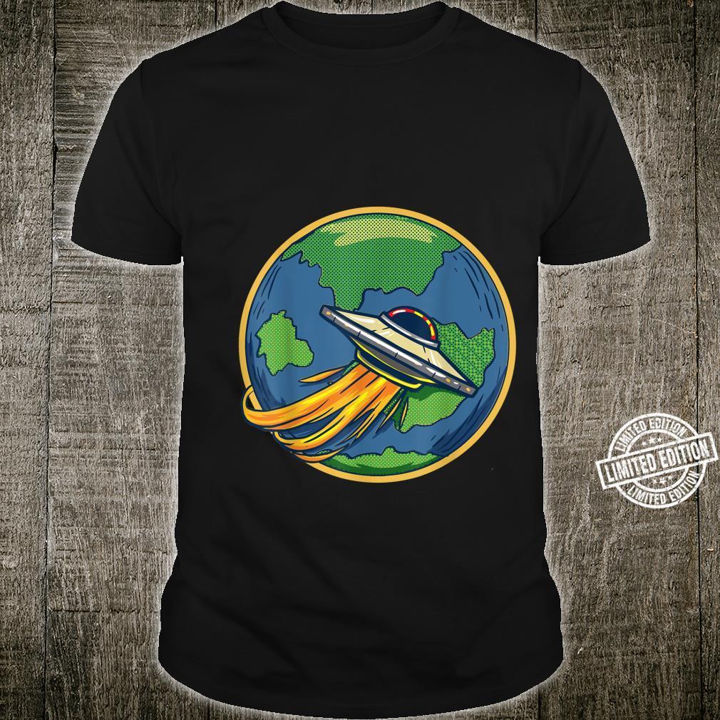 Ufo Planet Earth Alien Space Shirt