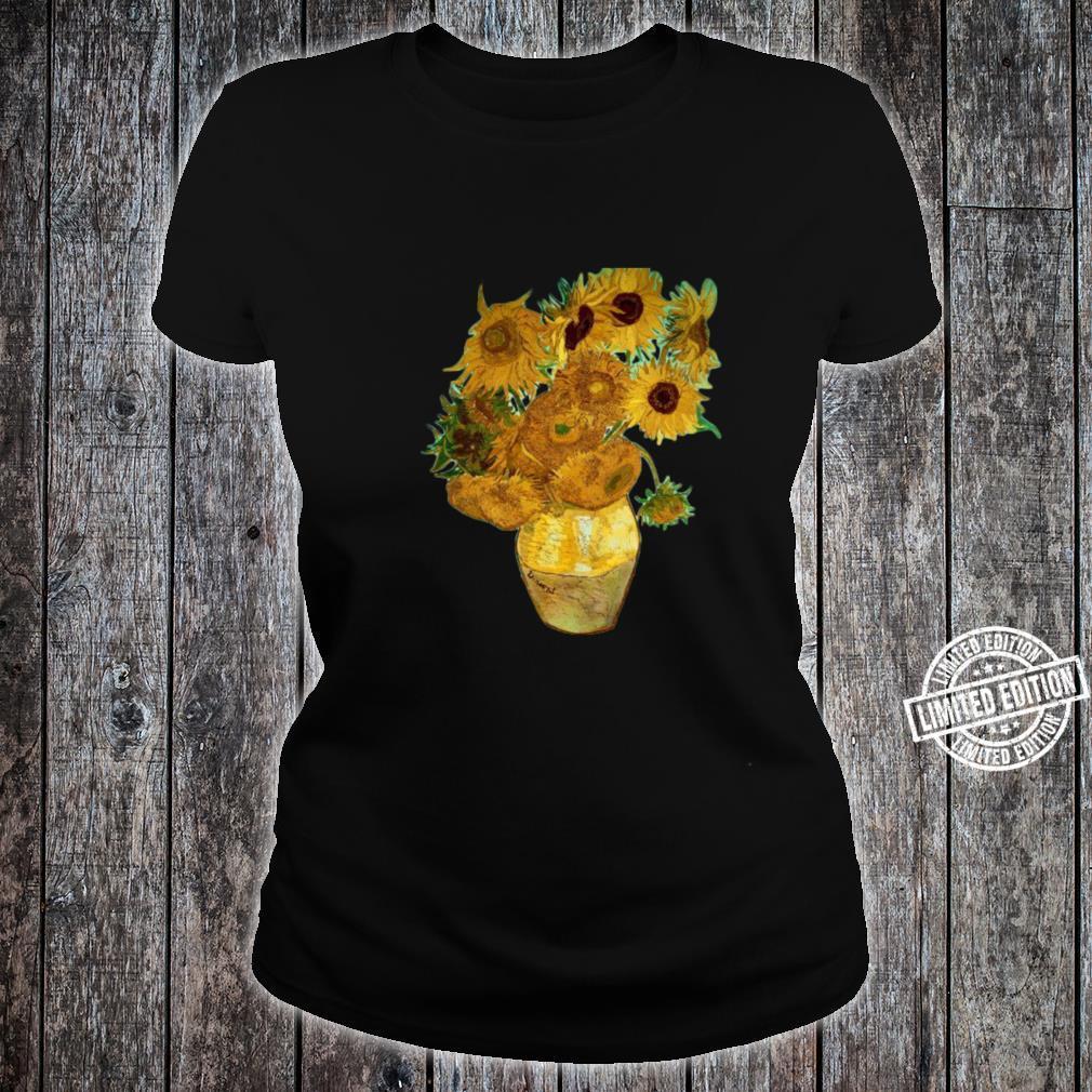 Van Gogh Sunflowers Retro Yellow Flowers Art Painting Shirt ladies tee