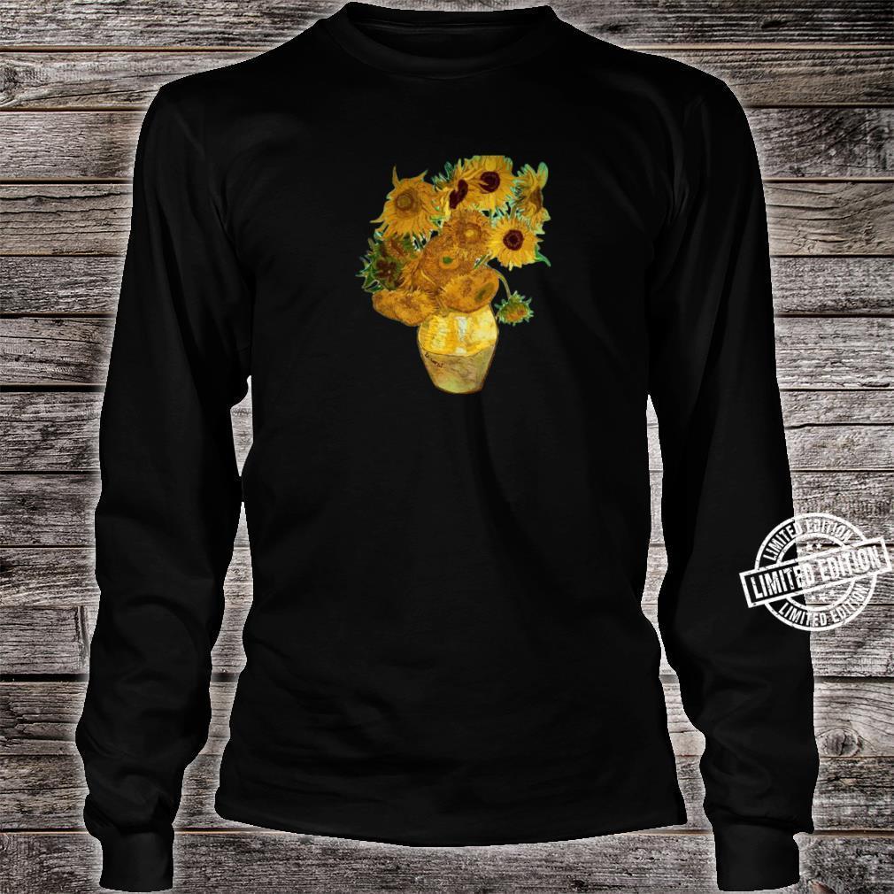 Van Gogh Sunflowers Retro Yellow Flowers Art Painting Shirt long sleeved
