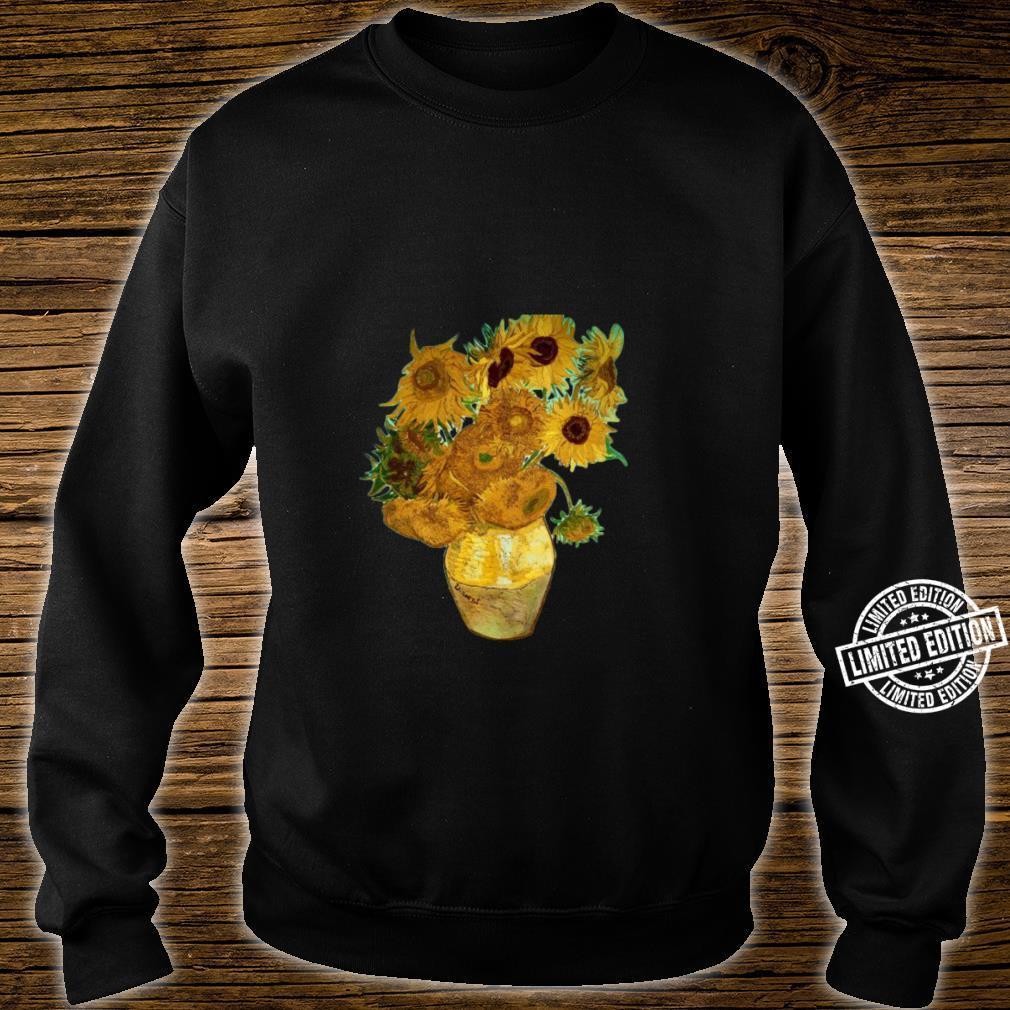 Van Gogh Sunflowers Retro Yellow Flowers Art Painting Shirt sweater