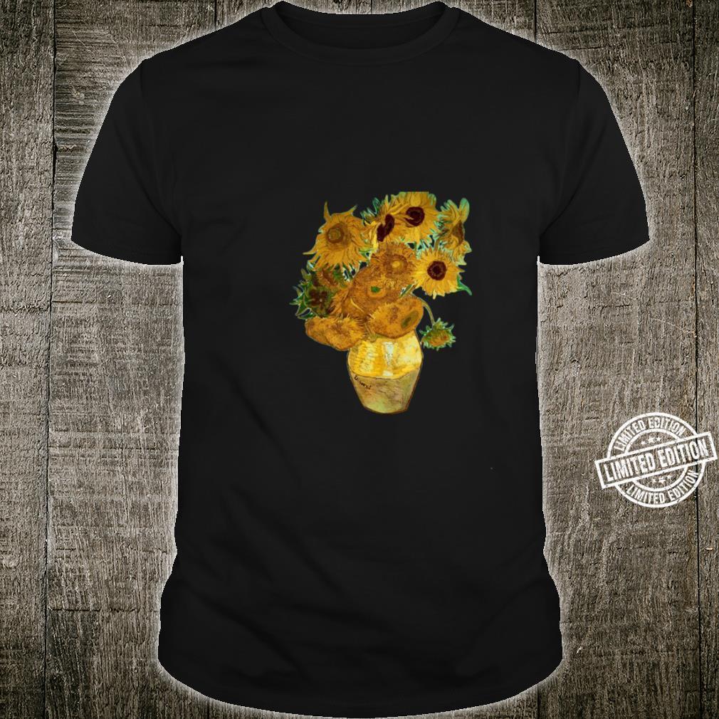 Van Gogh Sunflowers Retro Yellow Flowers Art Painting Shirt