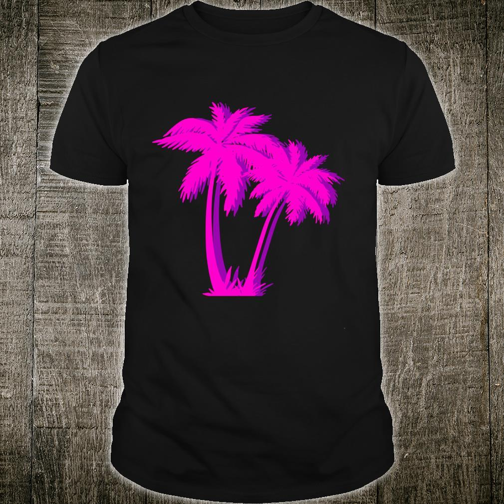 Vaporwave Palm Tree product Aesthetic Style Palm Pink Shirt