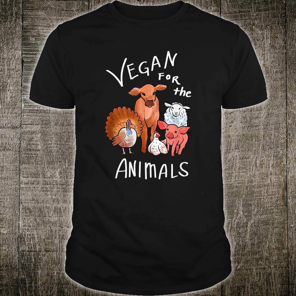 Vegan für die Tiere Veganer und Aktivist Shirt