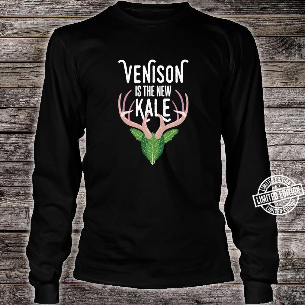 Venison is the new Kale I Deer Hunting Anti Vegan Shirt long sleeved