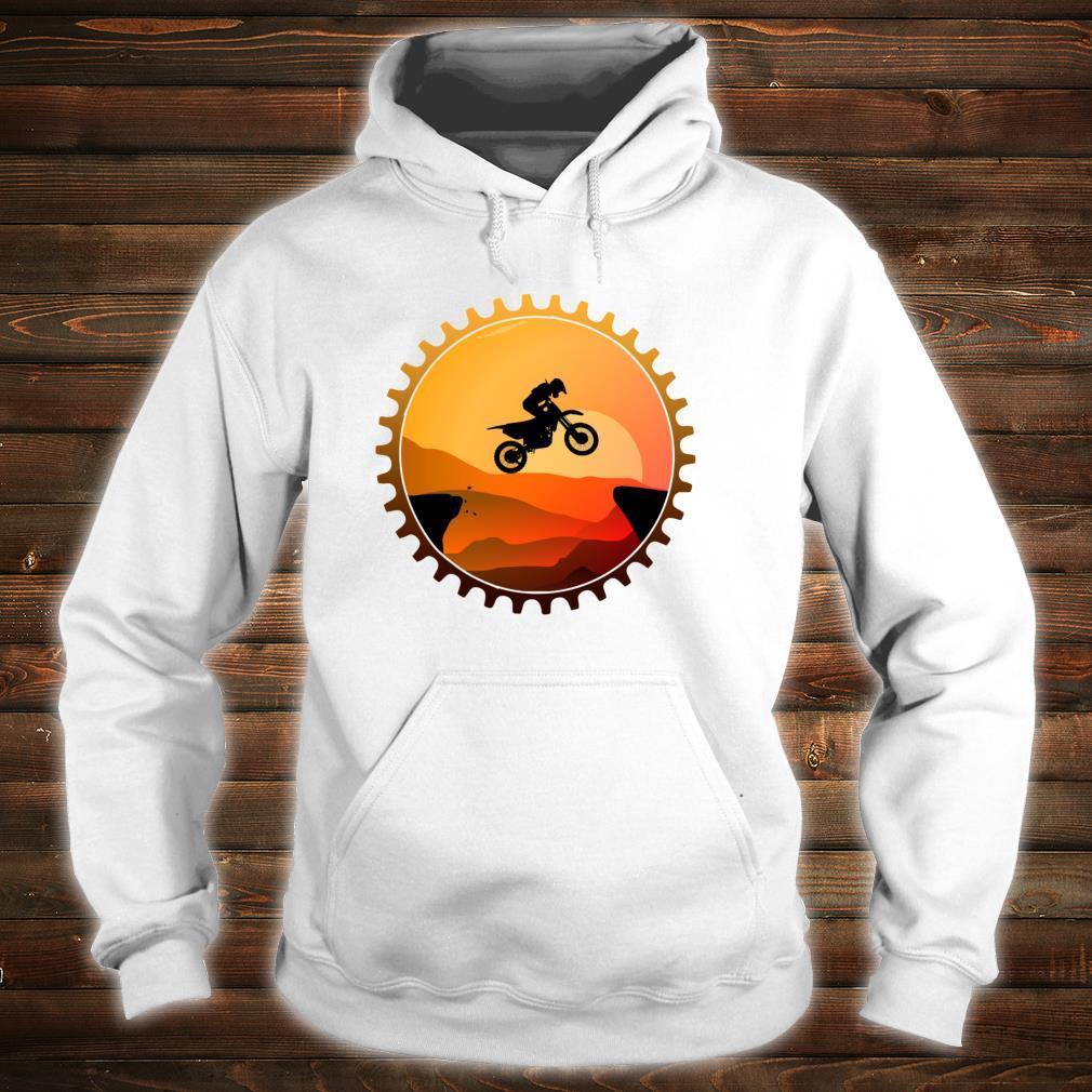 Vintage Downhill Biking MTB Mountain Bike Retro Sunset Biker Shirt hoodie