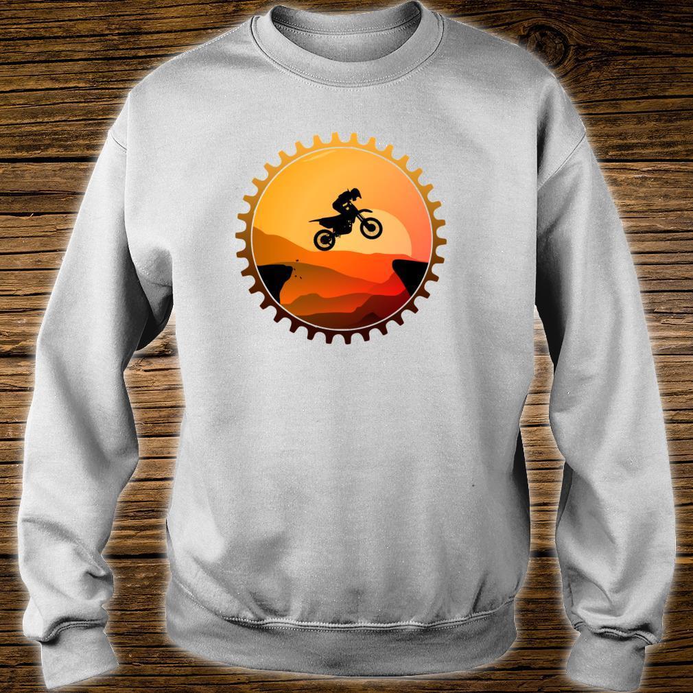 Vintage Downhill Biking MTB Mountain Bike Retro Sunset Biker Shirt sweater