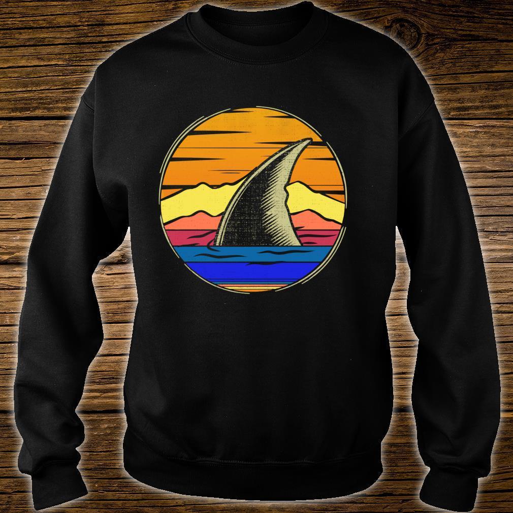 Vintage Shark Fin Retro Sunset Animal Shirt sweater