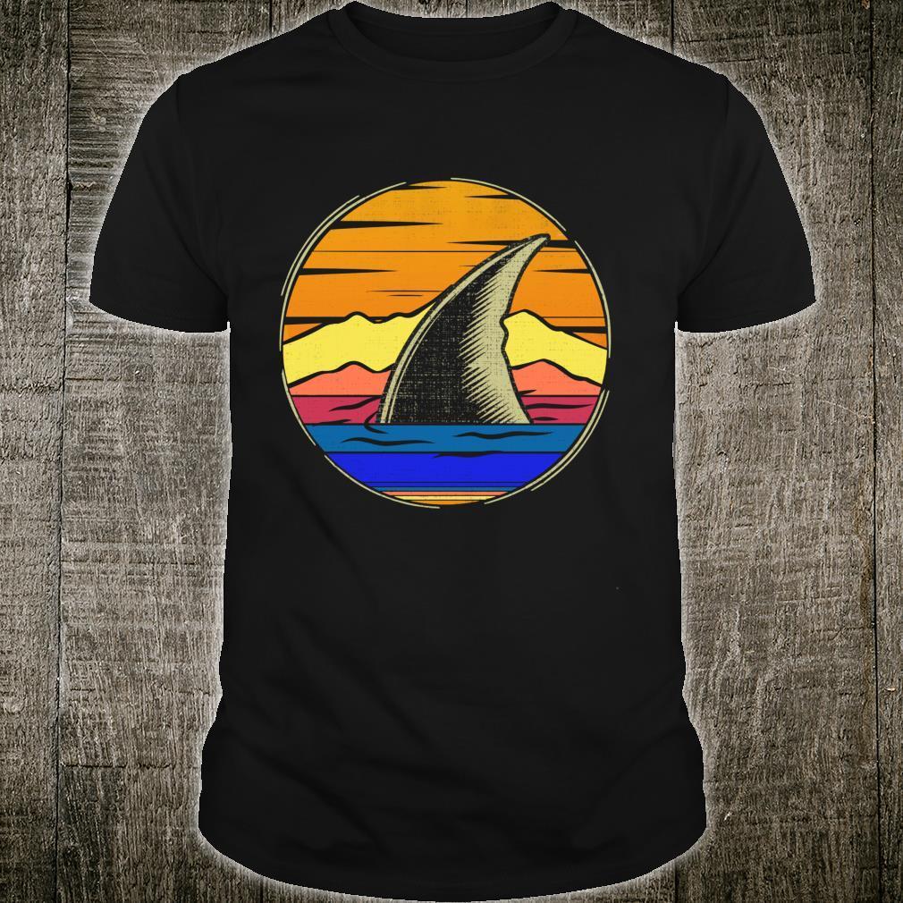 Vintage Shark Fin Retro Sunset Animal Shirt