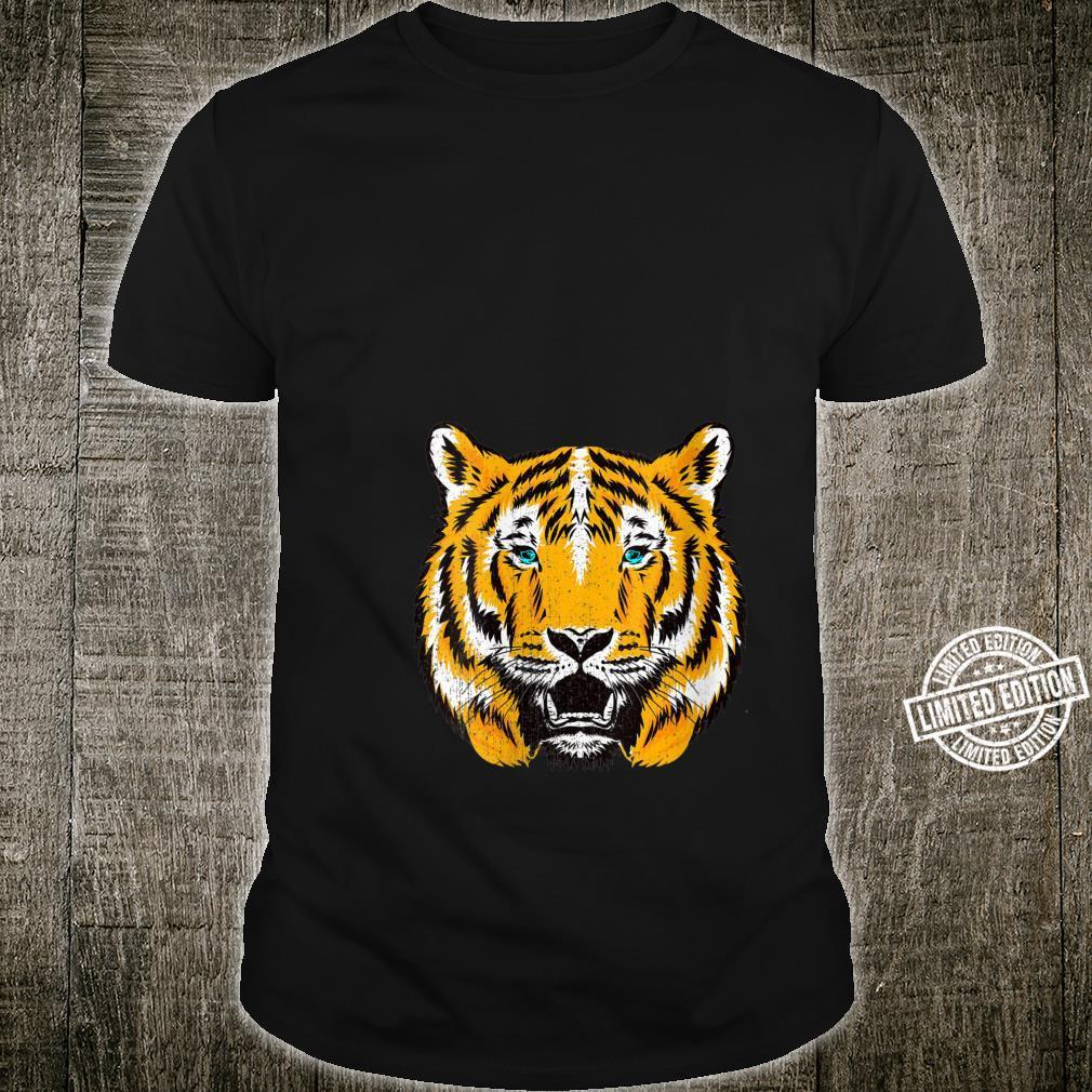Vintage Tiger Face Tiger Head Exotic Wild Cat Leopard Shirt
