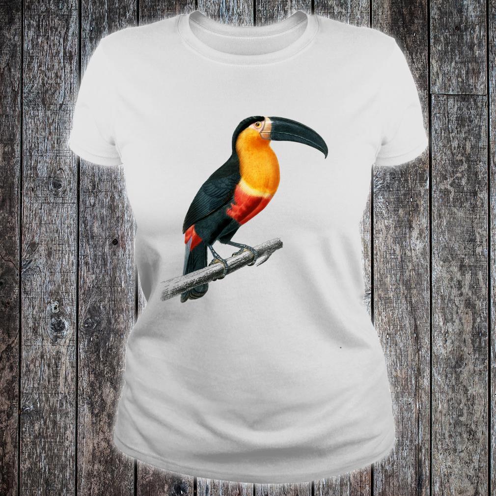 Vintage Toucan Animal Art Charles Dessalines D'orbigny Shirt ladies tee