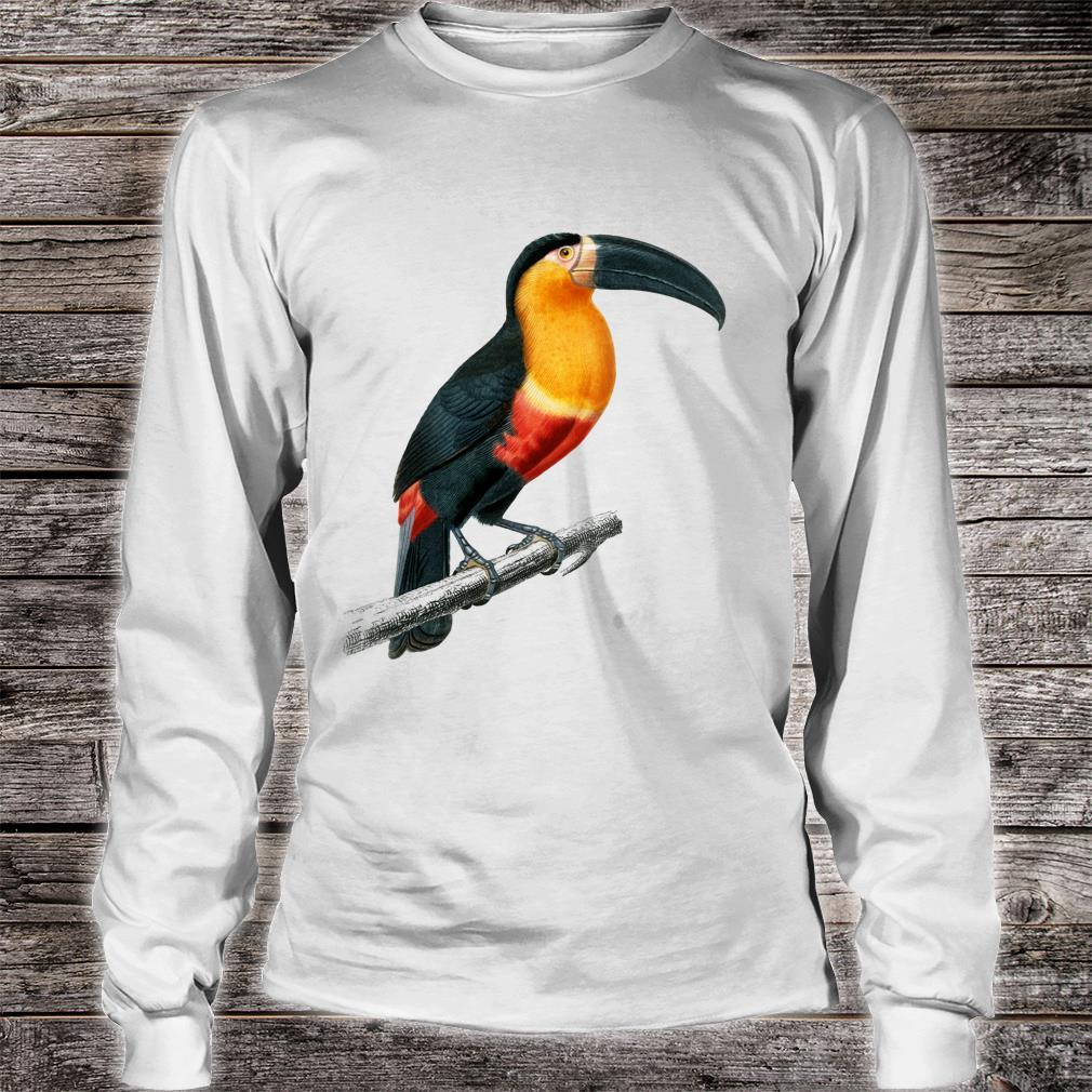 Vintage Toucan Animal Art Charles Dessalines D'orbigny Shirt long sleeved