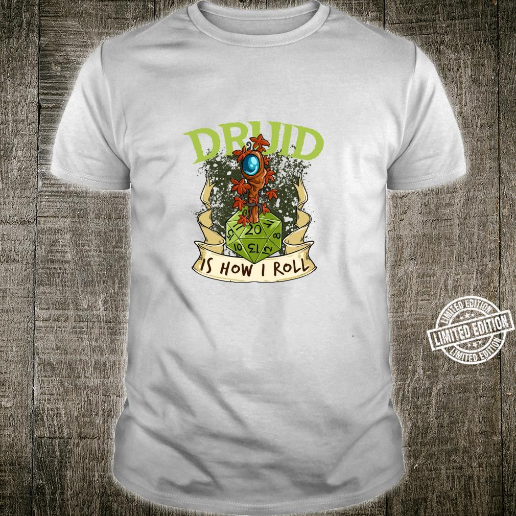 W20 Druid Roll 20Sided Dice Role Play Game Dungeon Fantasy Shirt