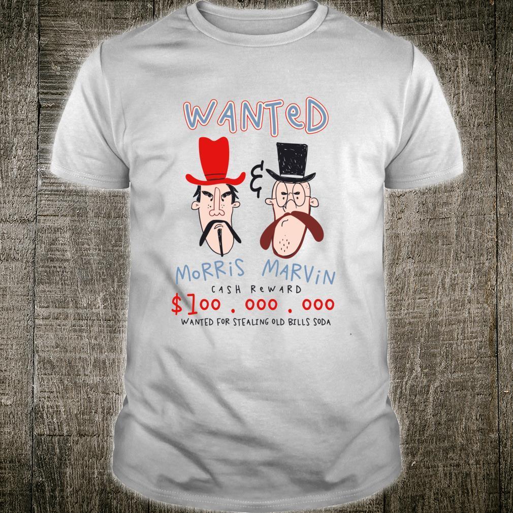 Wanted Poster Bandits Cowboy Western Shirt
