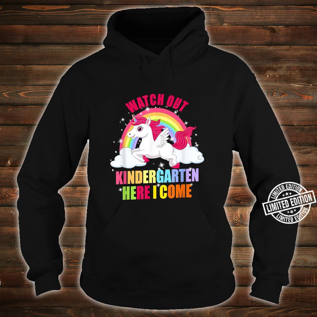Watch Out Kindergarten Here I Come Unicorn Back To School Shirt hoodie