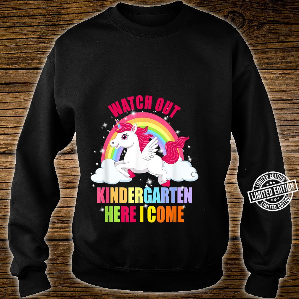 Watch Out Kindergarten Here I Come Unicorn Back To School Shirt sweater