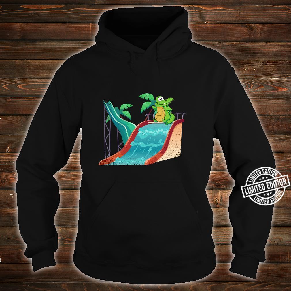 Water Slide Reptile Animal Alligator Swimming Crocodile Shirt hoodie