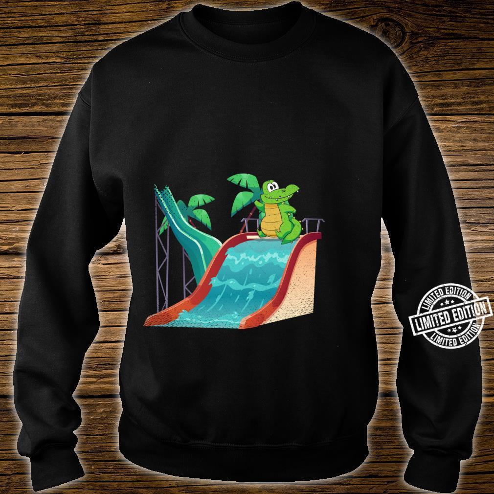 Water Slide Reptile Animal Alligator Swimming Crocodile Shirt sweater
