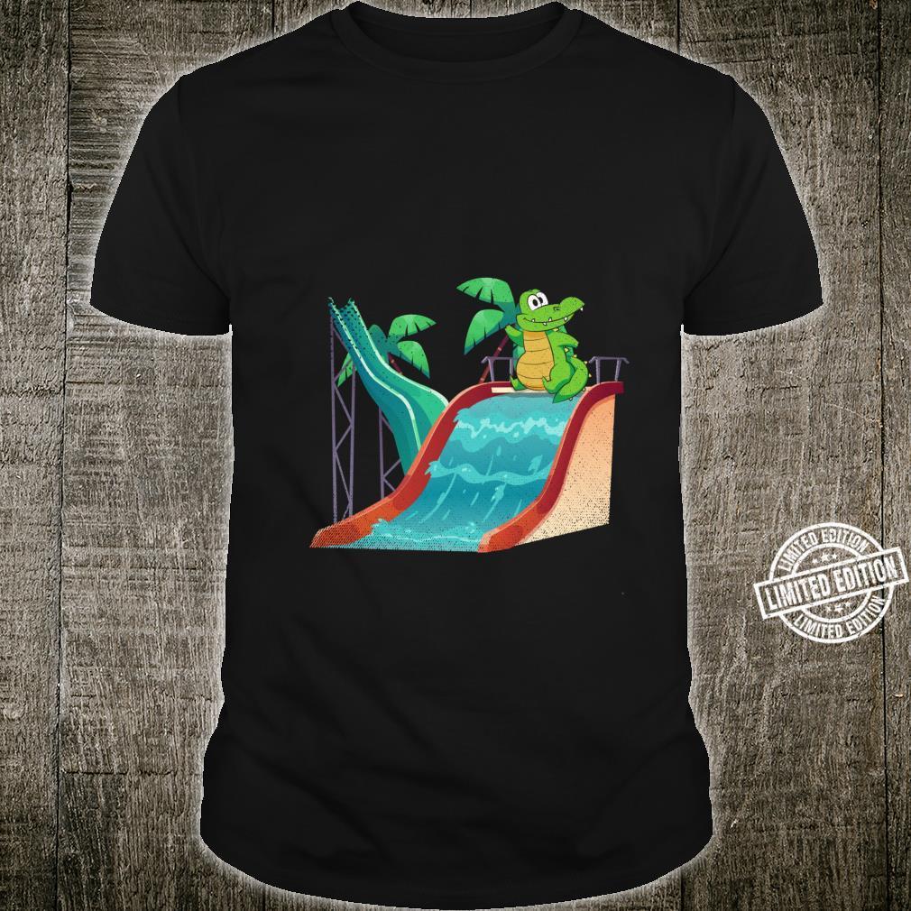 Water Slide Reptile Animal Alligator Swimming Crocodile Shirt