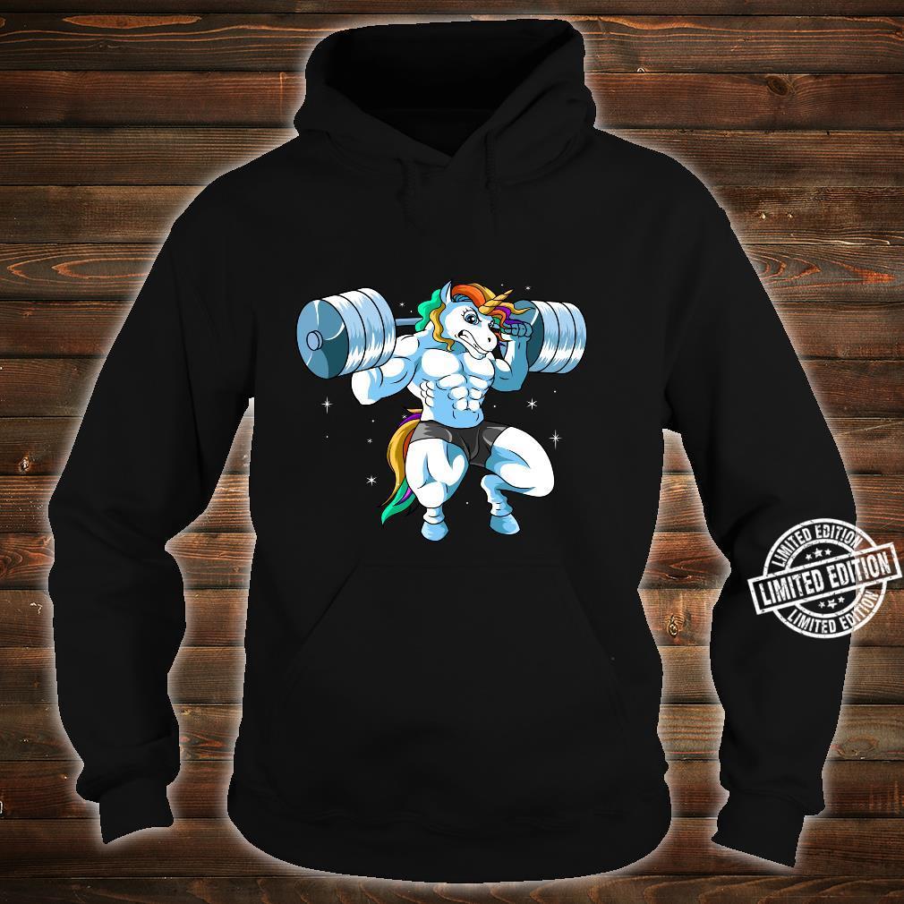 Weightlifter Barbell Fitness Gym Weightlifing Unicorn Shirt hoodie
