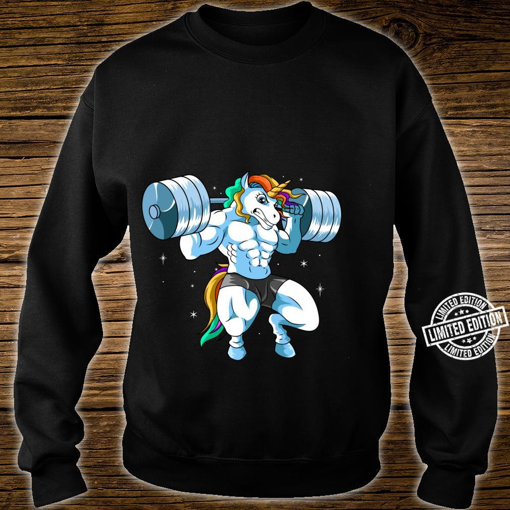 Weightlifter Barbell Fitness Gym Weightlifing Unicorn Shirt sweater
