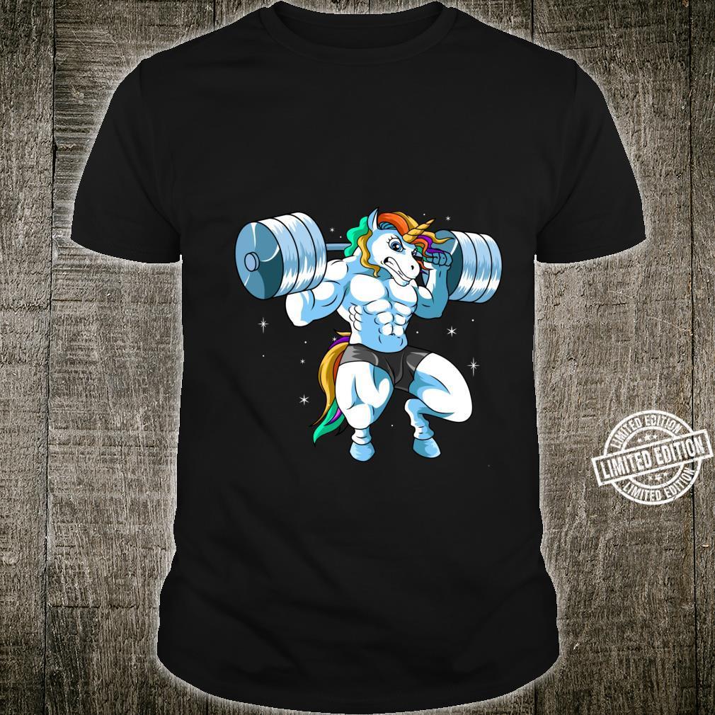 Weightlifter Barbell Fitness Gym Weightlifing Unicorn Shirt