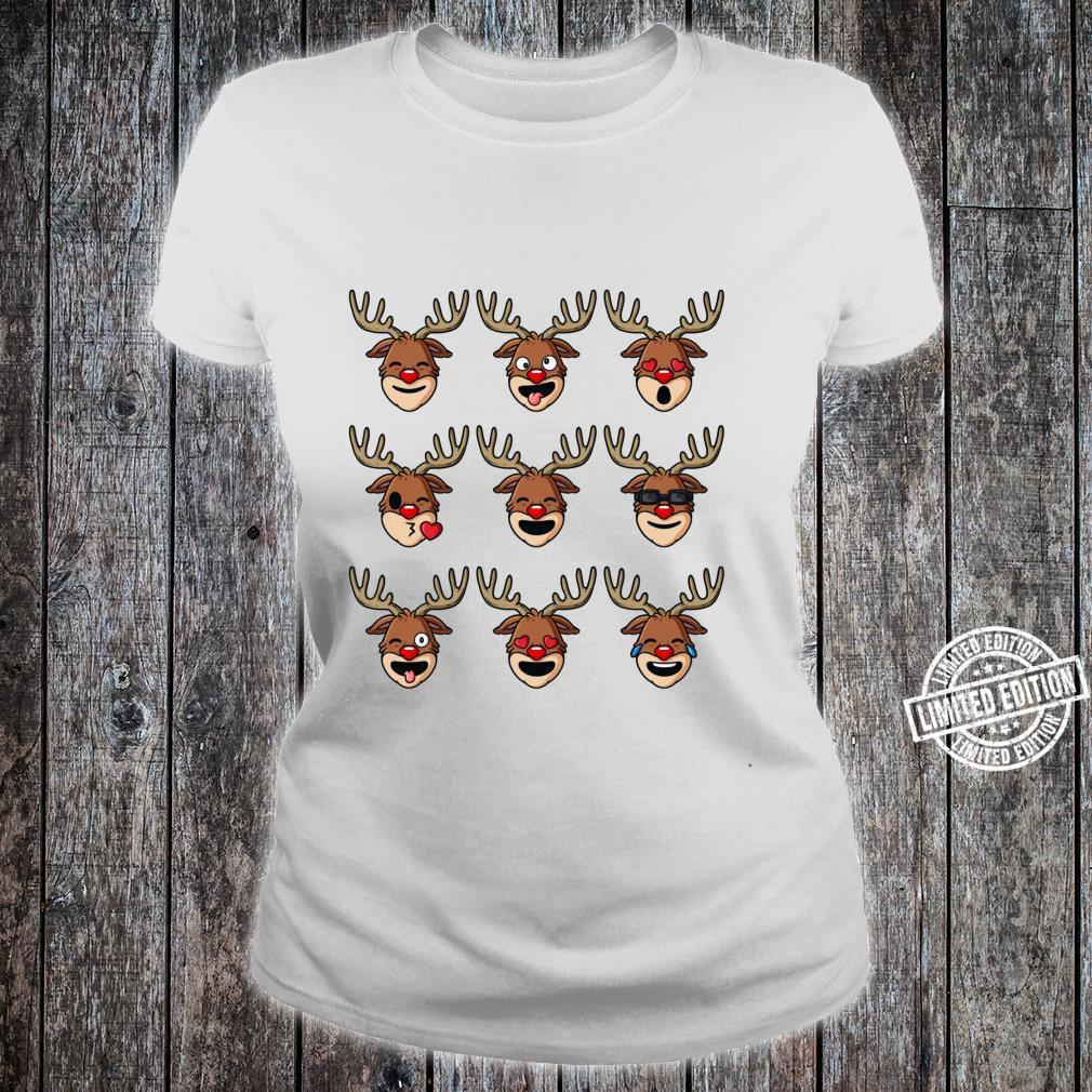 Weihnachtliches Rentiergesichter, lustig, für Jungen und Mädchen Shirt ladies tee