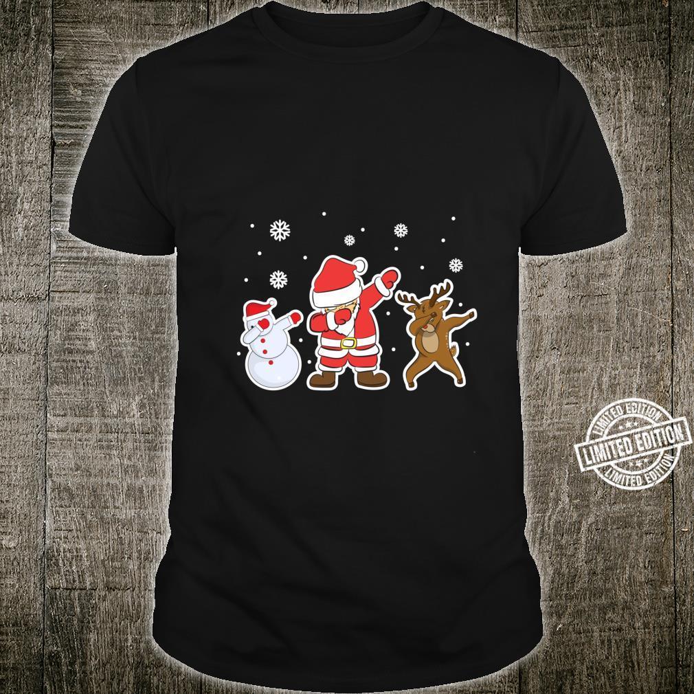 Weihnachtsmann Schneemann Rentier Winter Shirt