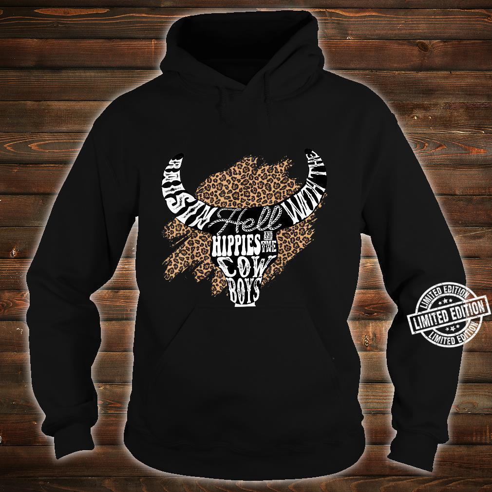 Western Boho Leopard Cow Bull Skull Cowgirl Rodeo Girl Shirt hoodie