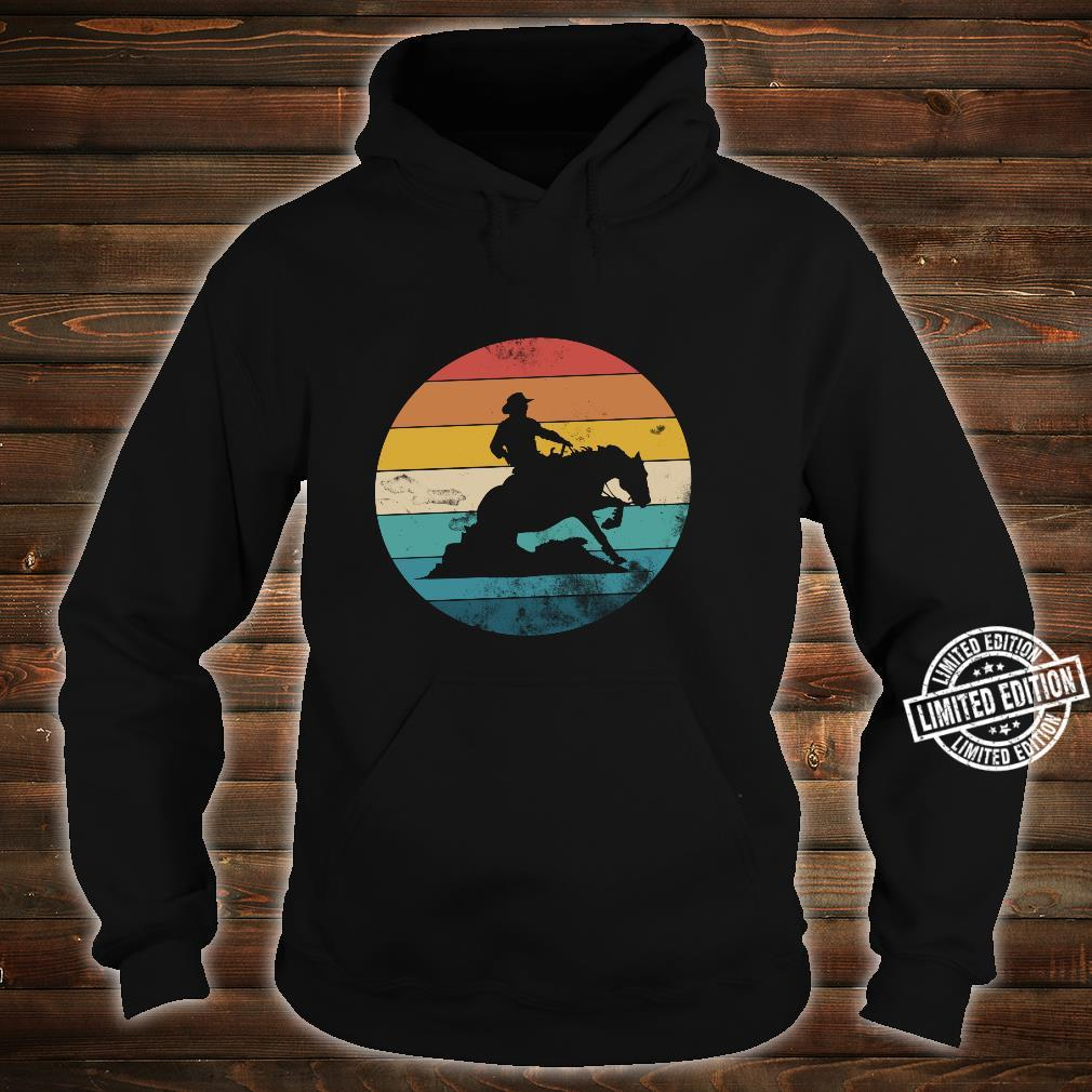 Western Rider Reining Quarter Horse Sliding Stop Shirt hoodie