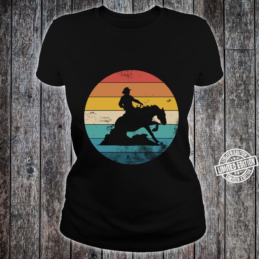 Western Rider Reining Quarter Horse Sliding Stop Shirt ladies tee