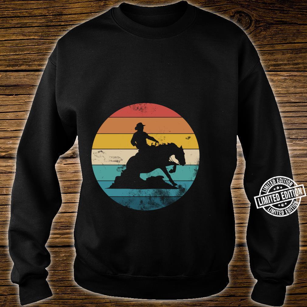 Western Rider Reining Quarter Horse Sliding Stop Shirt sweater