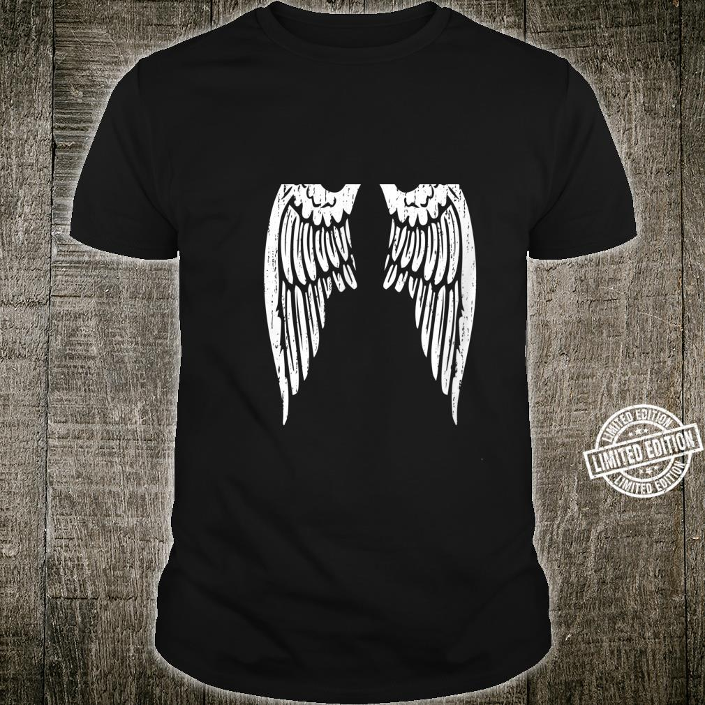 White Angel Wings Back and Shirt