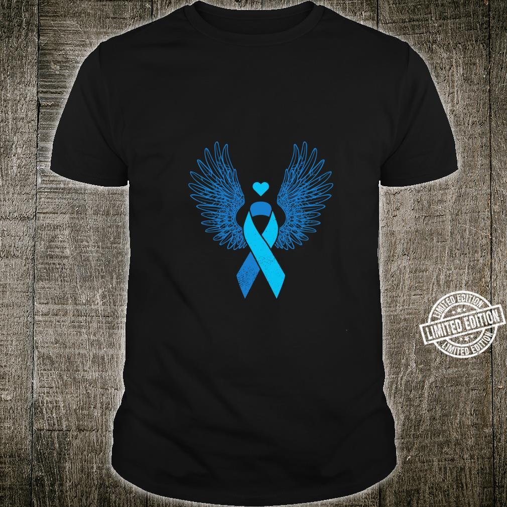 Winged light blue ribbon prostate cancer awareness Shirt