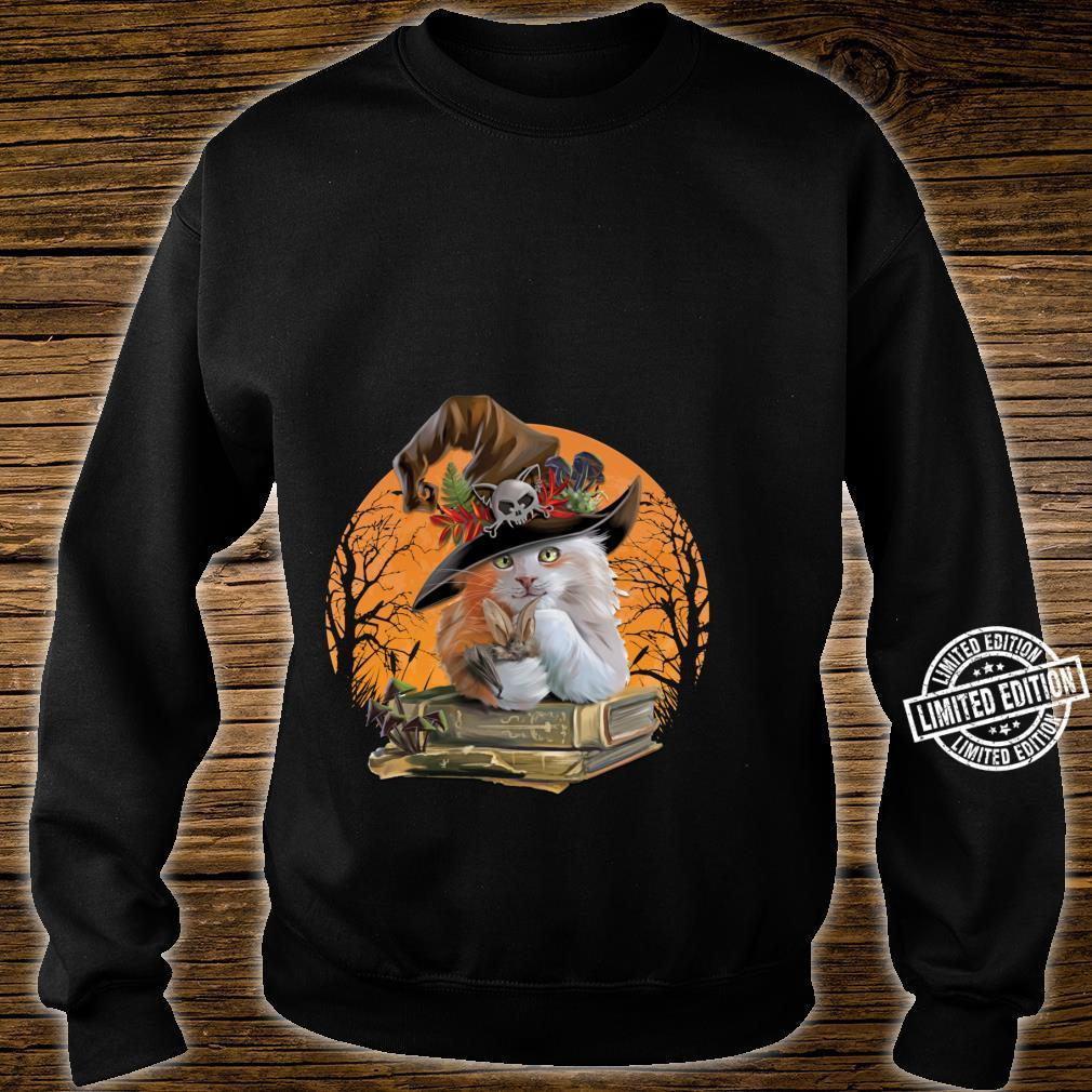 Witch Hat Pumpkin Love Cat Halloween Happy Halloween Shirt sweater