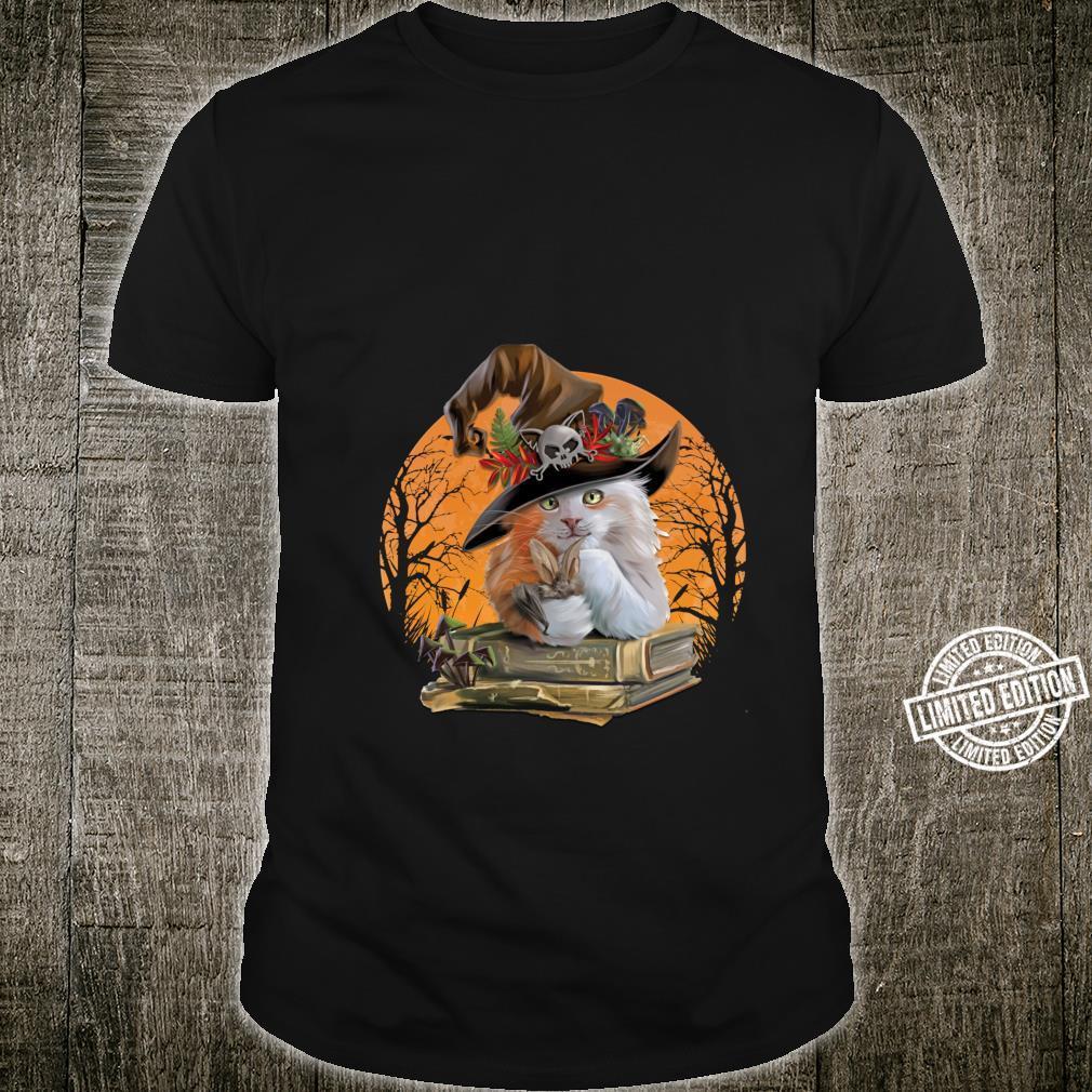 Witch Hat Pumpkin Love Cat Halloween Happy Halloween Shirt