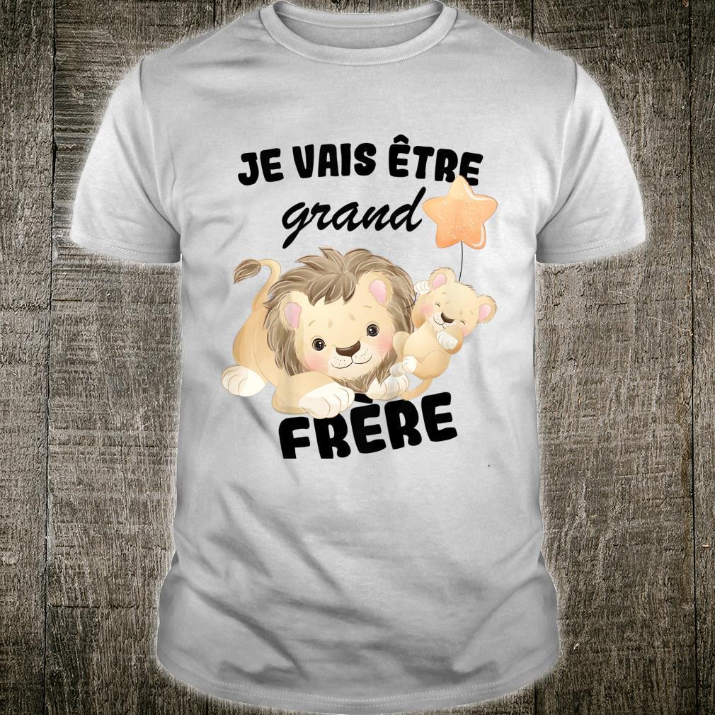 Youth Je vais être Grand Frère 2022 Annoncer une Pregnesse Family Shirt