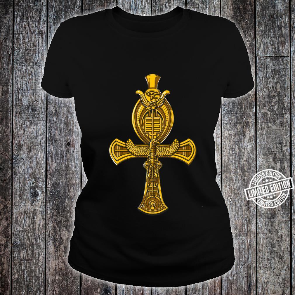 Ägyptisches Ankh Kreuz Horusauge Symbol Mythologie Shirt ladies tee
