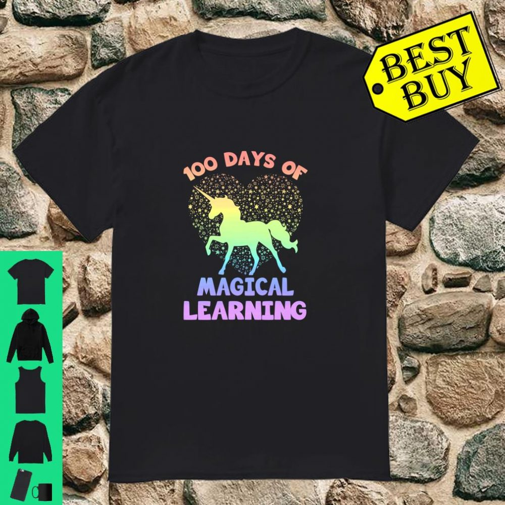 100 Days Of Magical Learning School Unicorn 100th Day Shirt