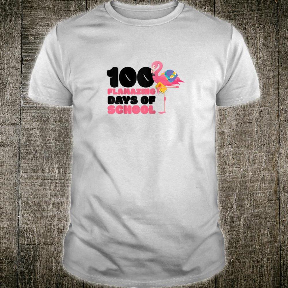 100 Flamazing Days of School Flamingo 100th Day For Teachers Shirt