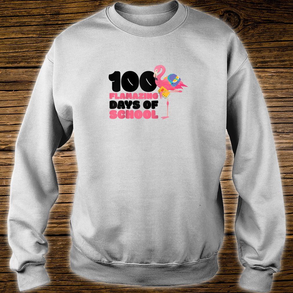 100 Flamazing Days of School Flamingo 100th Day For Teachers Shirt sweater