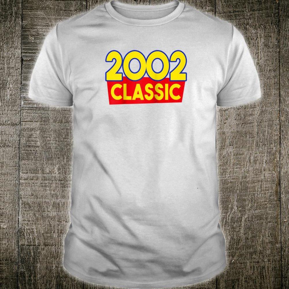 2002 Classic 18th Birthday 18 Year Old Vintage Retro Shirt