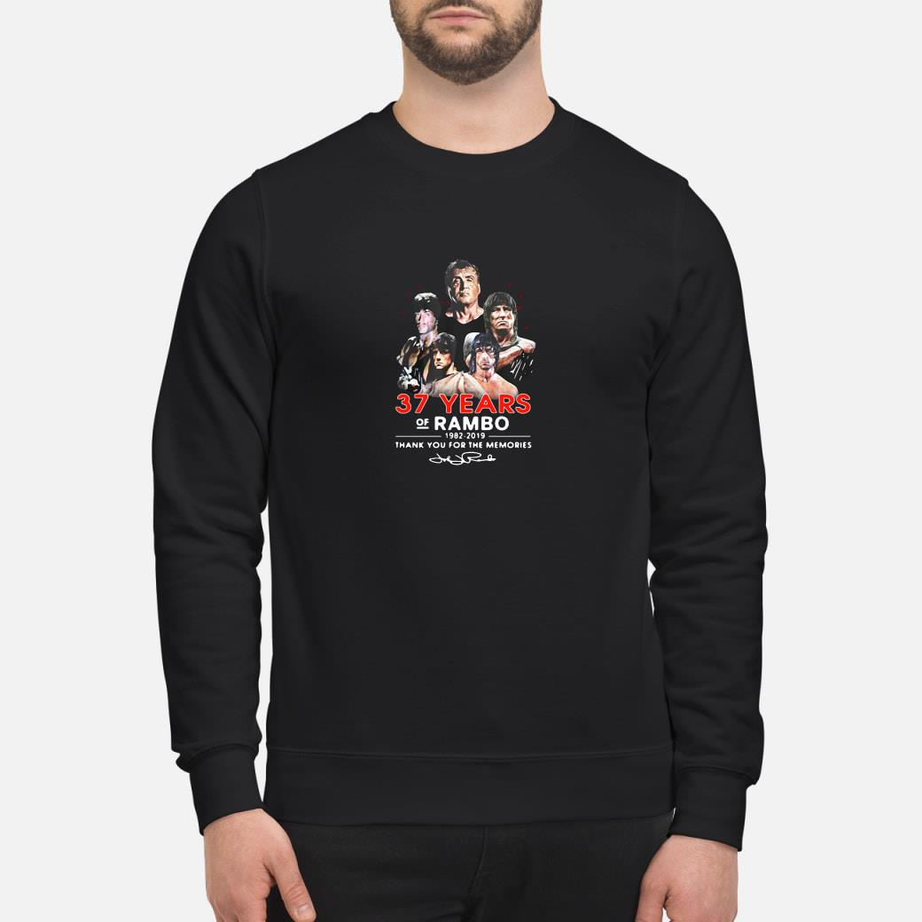 37 years of Rambo 1982-2019 thank you for the memories shirt sweater